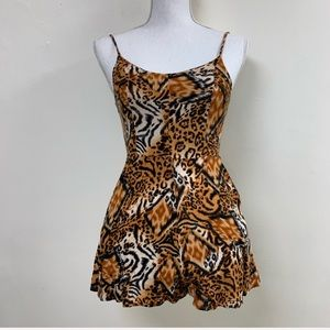 Leopard animal print romper